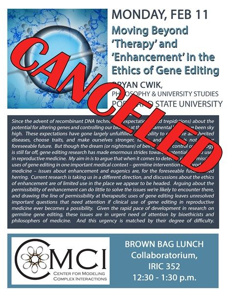 Bryan Cwik Talk Canceled